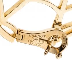 Chaumet Catche Me If You Love Me Diamond Yellow Gold Earrings