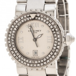 Chaumet Silver Stainless Steel And Diamonds Class One Women's Wristwatch 30 mm