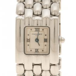 Chaumet White Stainless Steel Khesis Women's Wristwatch 21 mm