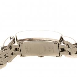 Chaumet Pinkish White Stainless Steel Diamonds Khesis 253813 Women's Wristwatch 21 mm