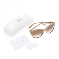 Chloe Beige/Brown Gradient CE627S Cat Eye Sunglasses