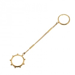 Chloe Two Chain Gold Tone Ring