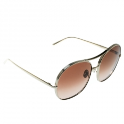 Chloe Gold/Brown Brown Gradient CE128S Round Sunglasses