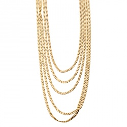 Chloe Gold Tone Layered Chain and Hinge Choker Necklace