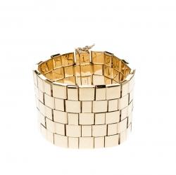 Chloe Tilly Wrist Gold Tone Wide Bracelet S/M