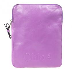 Chloe Purple Leather Ipad Cover