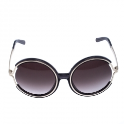 Chloe Silver/Grey Jayme Round Sunglasses