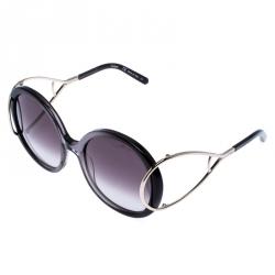 Chloe Silver/Grey Jackson Oversize Sunglasses