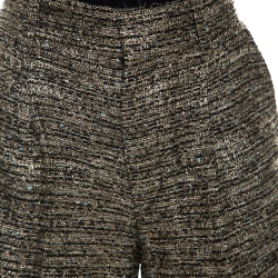 Chloe Black & Gold Tweed Shorts S