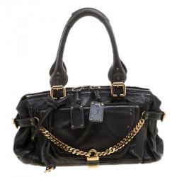 Chloe Black Leather Paddington Capsule Satchel