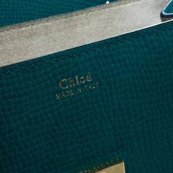 Chloe Green/Blue Leather Small Drew Shoulder Bag