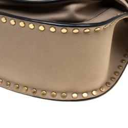 حقيبة كتف كلوي ميني هودسون جلد ميستي وردي