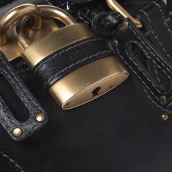 Chloe Black Leather Medium Paddington Satchel