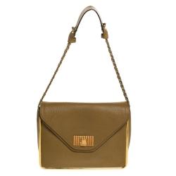 Chloe Beige Leather Medium Sally Shoulder Bag