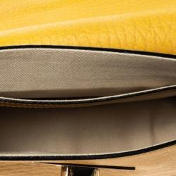 Chloe Mustard Leather Small Sally Shoulder Bag