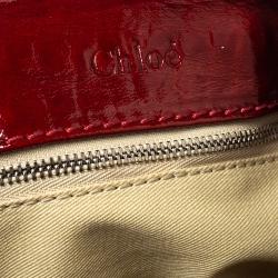 Chloe Wine Red Patent Leather Medium Paddington Satchel