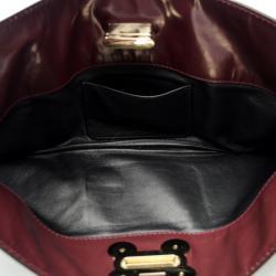 Chloe Leather Burgundy Clutch