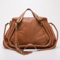 Chloe Tan Leather Paraty Limited Edition