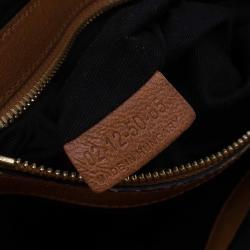 Chloe Brown Leather Medium Ethel Satchel