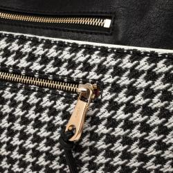 Chloe Angie Black Large Houndstooth Pouch