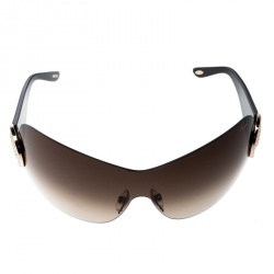 09c28595f0d54 Chopard Brown Gradient SCH939S Crystal Embellished Shield Sunglasses