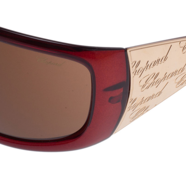 Chopard Gold Monogram Shield Sunglasses