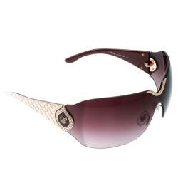 01f60fd9a2252 Chopard Gold Burgundy Gradient SCH 883S Crystal Embellished Shield  Sunglasses