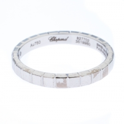 Chopard Ice Cube 18K White Gold Band Ring Size 49