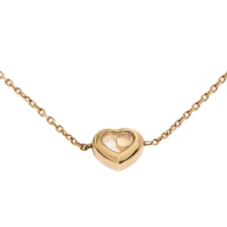 Chopard Happy Heart Diamond 18K Yellow Gold Chain Link Anklet