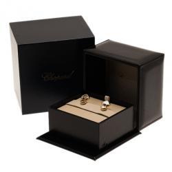 Chopard Happy Diamonds Cabochon Blue Sapphire 18K Yellow Gold Earrings