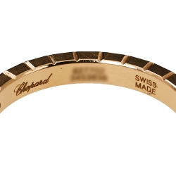 Chopard Ice Cube Pure 18K Rose Gold Ring Size 52