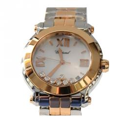 a3c94349f Chopard MOP 18K Yellow Gold and Stainless Steel Happy Sport Women's  Wristwatch 36MM