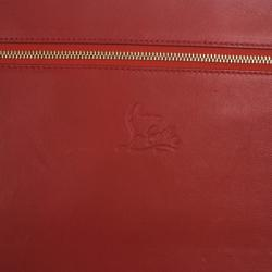 Christian Louboutin Red Patent Cris Spiked Leather iPad Case