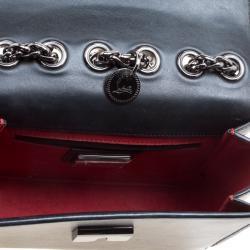 Christian Louboutin Black Leather Sweet Charity Loubi Bow Shoulder Bag