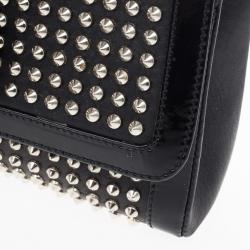 Christian Louboutin Black Sweet Charity Studded Leather Shoulder Bag