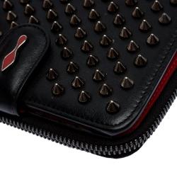 Christian Louboutin Black Spike Panettone Flap Wallet