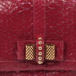 Christian Louboutin Pink Python Large Sweet Charity Bag