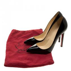 Christian Louboutin Black Patent Leather So Kate Pumps Size 35.5