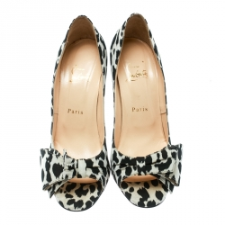 Christian Louboutin Two Tone Satin Just Soon Open Toe Pumps Size 39