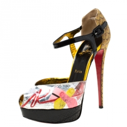 buy online 19049 7e919 Christian Louboutin Multicolor PVC No. 299 Trash Platform An...