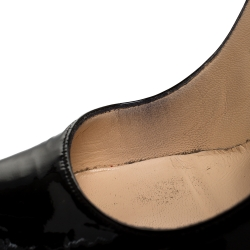 Christian Louboutin Black Patent Leather Daffodile Platform Pump Size 38