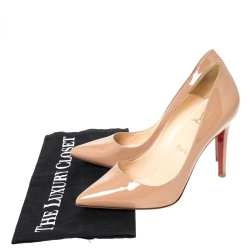 Christian Louboutin Beige Patent Leather So Kate Pumps Size 36.5