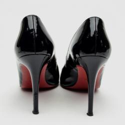 Christian Louboutin Black Patent 'Fifi' Pumps Size 38.5