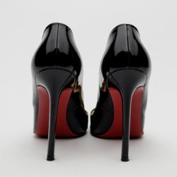 Christian Louboutin Black Patent Leather 'Pigalle' Pumps Size 35
