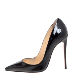 Christian Louboutin Black Patent Leather So Kate Pointed Toe Pumps Size 36