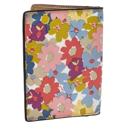 Coach Multicolor Floral Coated Canvas Passport Holder