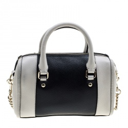 Coach Off White/Black Leather Crossbody Bag