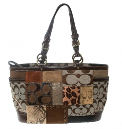 5e99693eea Coach Multicolor Canvas and Leather Patchwork Tote