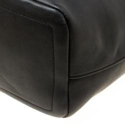 Coach Black Leather Bucket Hobo
