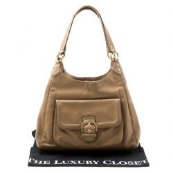 Coach Brown Leather Pocket Tote